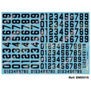 Decals Numeri di Gara Neri
