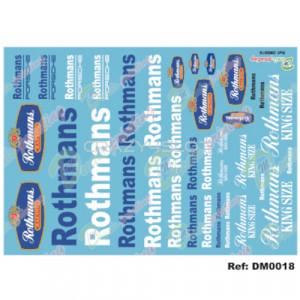 Decals Sponsor Rothmans