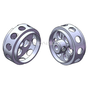 Cerchi in Alluminio da 16.5x8.2mm No Air System