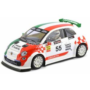 Fiat Abarth 500 White Trofeo Abarth Italia #55