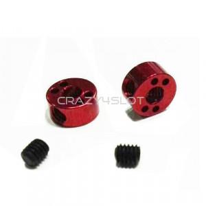 Stopper Alleggerito M2.5 Alluminio Anodizzato Rosso