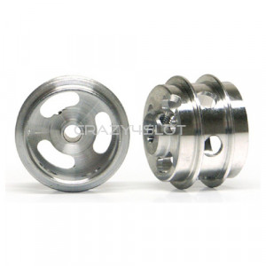 Cerchi in Alluminio 15.8x10mm Forati a Mozzo Corto