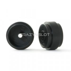 Cerchi in Plastica Neri da 17.3x10mm