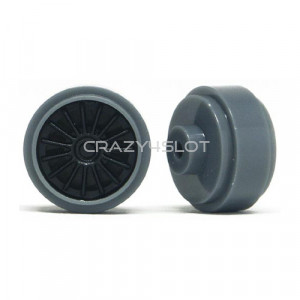 Cerchi in Plastica Grigi da 16.5x8.2mm