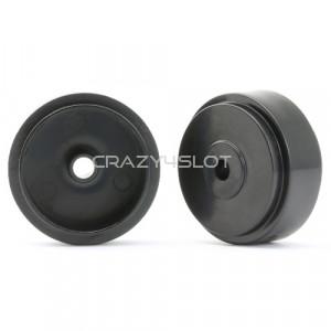 Cerchi in Plastica Neri da 17.3x8.2x0.5mm