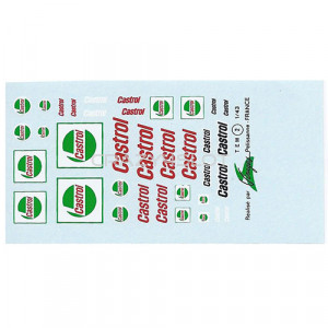 Decals ad acqua Castrol 1:43