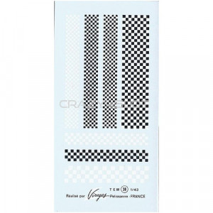 Decals ad acqua Damier 1:43