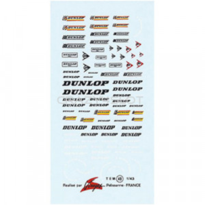 Decals ad acqua Dunlop 1:43