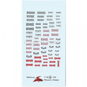 Decals ad acqua Firestone 1:43