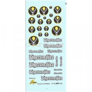Decals ad acqua Jagermeister 1:43