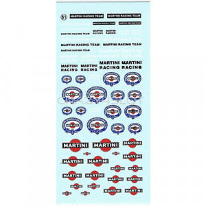 Decals ad acqua Martini 1:43